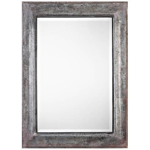 """Uttermost Agathon Acid Wash Zinc 33"""" x 45"""" Wall Mirror"""