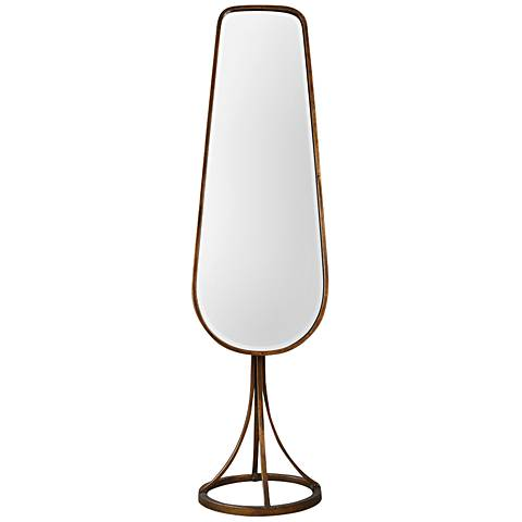 "Gavar Cheval Gold 19"" x 71"" Full Length Mirror on Stand"