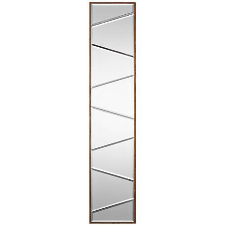 "Uttermost Zodia Gold Leaf 10"" x 48"" Wood Wall Mirror"