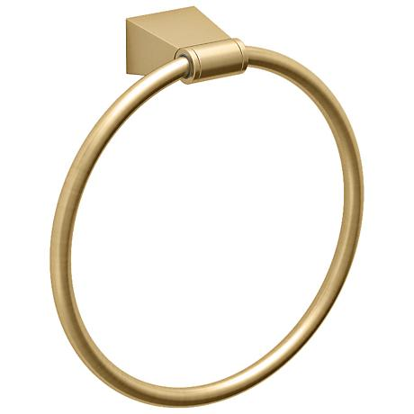 "Gatco Bleu Matte Brass 7"" High Towel Ring"