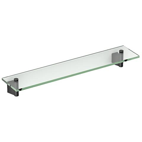 "Gatco Bleu Matte Black 20 1/4"" Wide Glass Shelf"