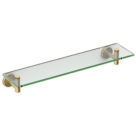 "Gatco Latitude II Matte Brass 20 1/4"" Wide Glass Shelf"