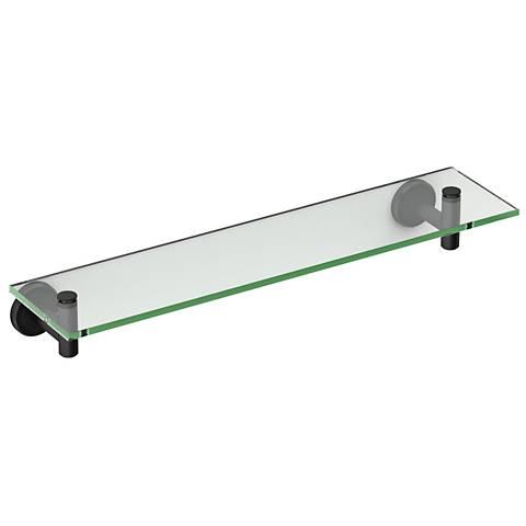 "Gatco Latitude II Matte Black 20 1/4"" Wide Glass Shelf"