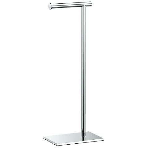 "Gatco Latitude II Chrome 21 1/4"" High Tissue Holder Stand"