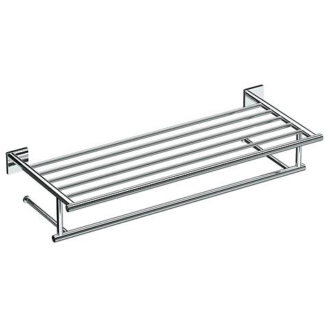 "Gatco Elevate Chrome 26"" Wide Hotel Spa Rack"