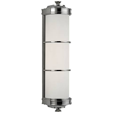 "Hudson Valley Albany 19 1/2""H Polished Nickel Wall Sconce"