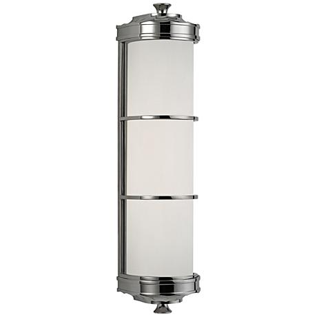 """Hudson Valley Albany 19 1/2""""H Polished Nickel Wall Sconce"""