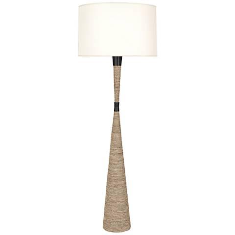Robert Abbey Laguna Sea Grass and Bronze Floor Lamp