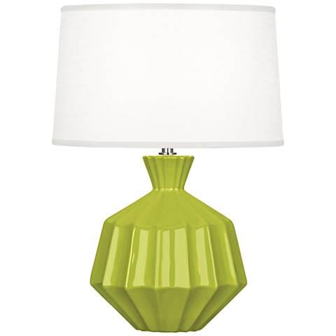 "Robert Abbey Orion 17 3/4""H Apple Ceramic Accent Lamp"