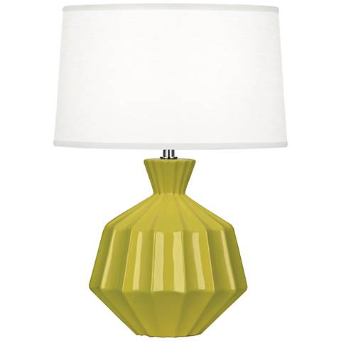 "Robert Abbey Orion 17 3/4""H Citron Ceramic Accent Lamp"