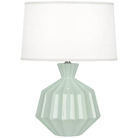 "Robert Abbey 17 3/4""H Orion Celadon Ceramic Accent Lamp"