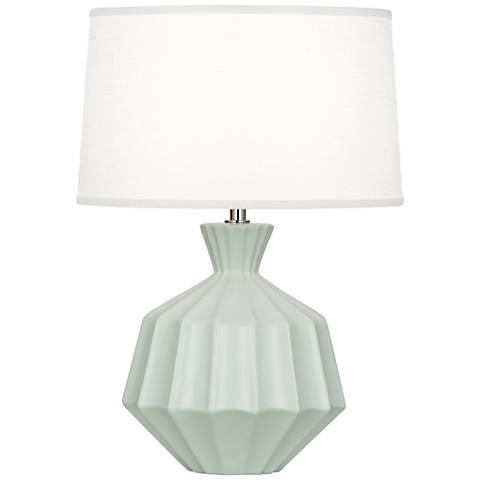 Robert Abbey Orion Matte Celadon Ceramic Accent Lamp