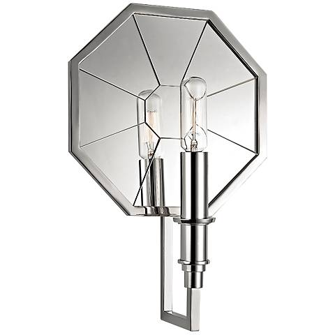 "Hudson Valley Cushing 11 3/4""H Polished Nickel Wall Sconce"