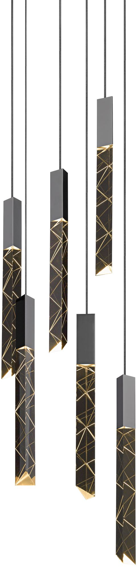 Trinity 9 1/4 W Polished Chrome LED Multi-Light Pendant  sc 1 st  L&s Plus & Multi Light Pendant Lighting Fixtures | Lamps Plus azcodes.com