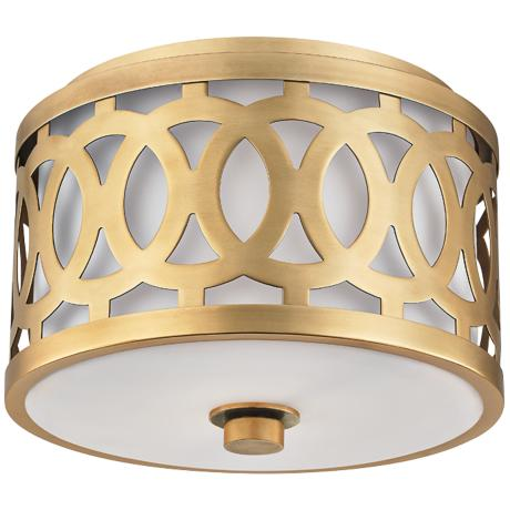 Hudson Valley Genesee 10 Quot Wide Aged Brass Ceiling Light