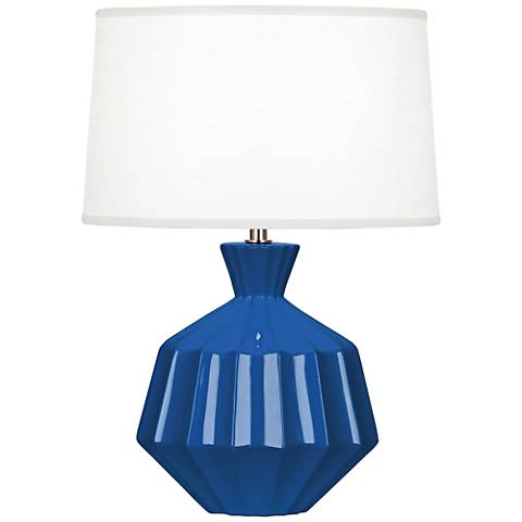 "Robert Abbey Orion 17 3/4""H Marine Blue Ceramic Accent Lamp"
