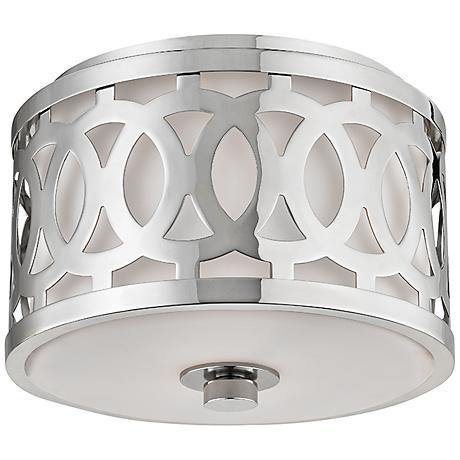 "Hudson Valley Genesee 10"" Wide Polished Nickel Ceiling Light"
