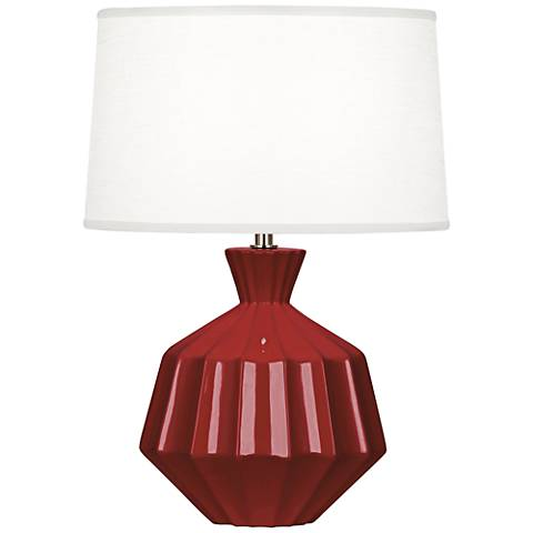 "Robert Abbey Orion 17 3/4""H Oxblood Ceramic Accent Lamp"