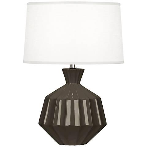 "Robert Abbey Orion 17 3/4""H Brown Tea Ceramic Accent Lamp"