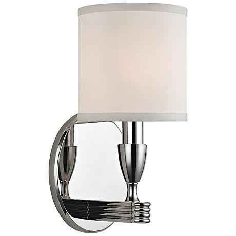 """Hudson Valley Bancroft 10 3/4""""H Polished Nickel Wall Sconce"""