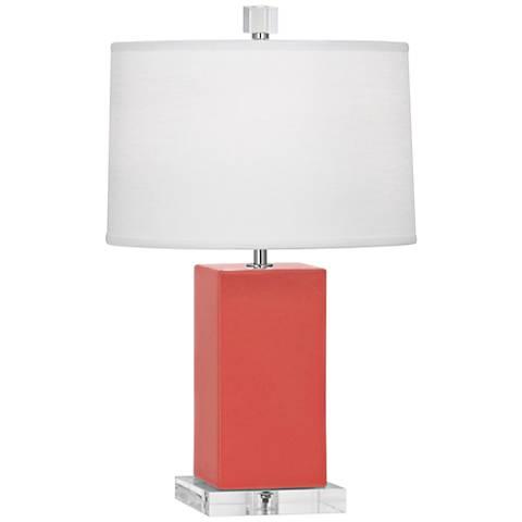 "Robert Abbey 19 1/4"" H Harvey Melon Ceramic Accent Lamp"