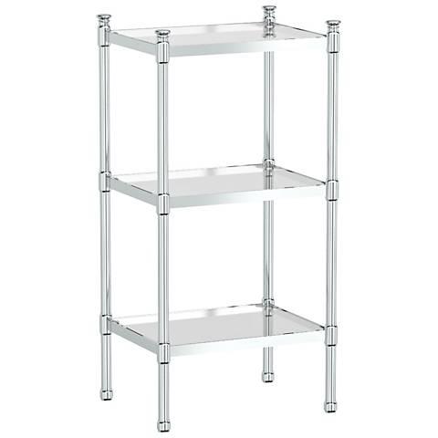 """Gatco Modernize Chrome 28 1/4"""" High 3-Tier Rectangle Shelf"""