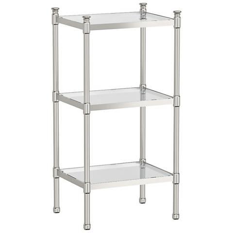 "Gatco Modernize Nickel 28 1/4"" High 3-Tier Rectangle Shelf"