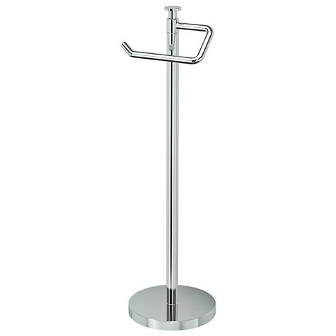 "Gatco Optimum Chrome 23 1/2"" High Standing Tissue Holder"