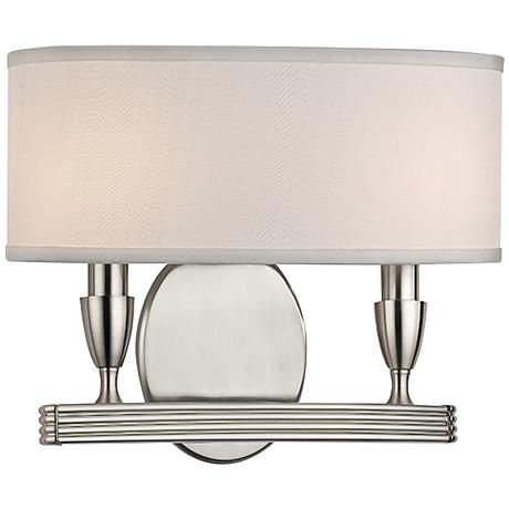 "Bancroft 10 3/4"" High Satin Nickel Dual Wall Sconce"
