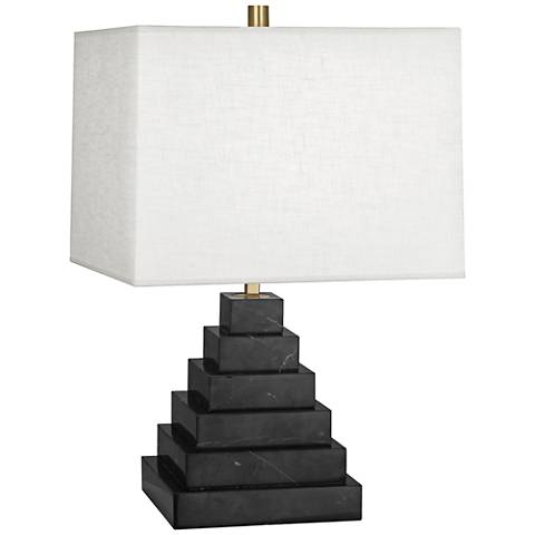 Jonathan Adler Canaan White Shade Marble Tapered Table Lamp