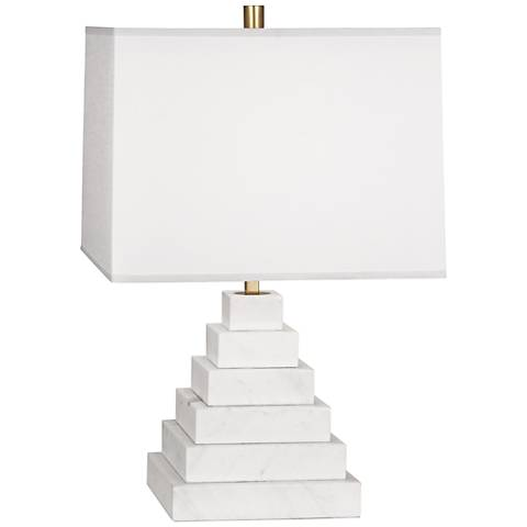 Jonathan Adler Canaan Oyster Shade Marble Tapered Table Lamp