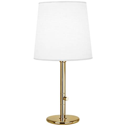 Robert Abbey Buster Chica Ascot Shade Brass Table Lamp