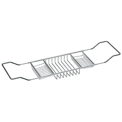"Gatco Urbane Stainless Steel 33""W Adjustable Bath Tub Caddy"
