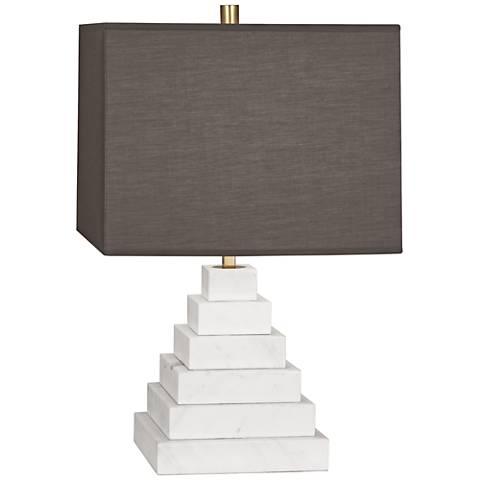 Jonathan Adler Canaan Smoke Shade Marble Tapered Table Lamp