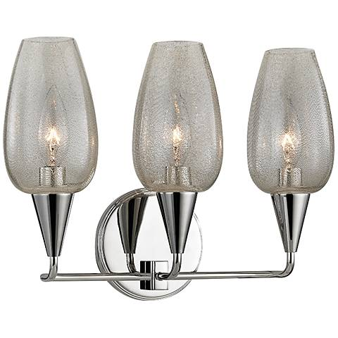 "Hudson Valley Longmont 10 1/4""H Polished Nickel Wall Sconce"