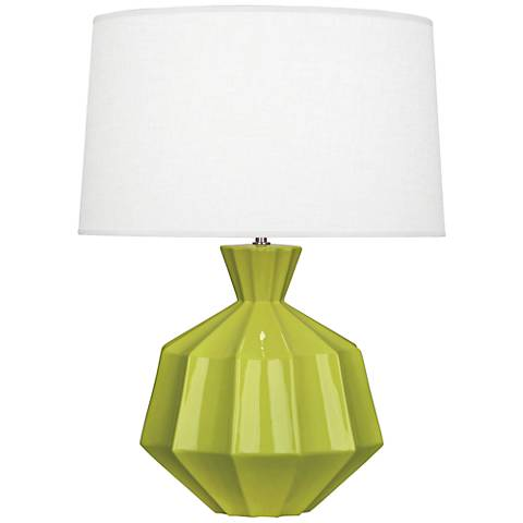Robert Abbey Orion Apple Green Ceramic Table Lamp