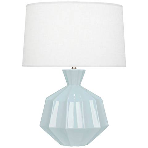 Robert Abbey Orion Baby Blue Ceramic Table Lamp