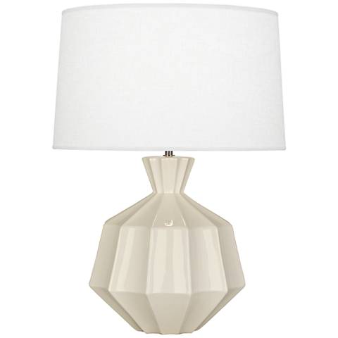 Robert Abbey Orion Bone White Ceramic Table Lamp