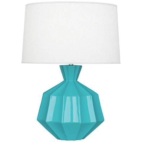 Robert Abbey Orion Egg Blue Ceramic Table Lamp