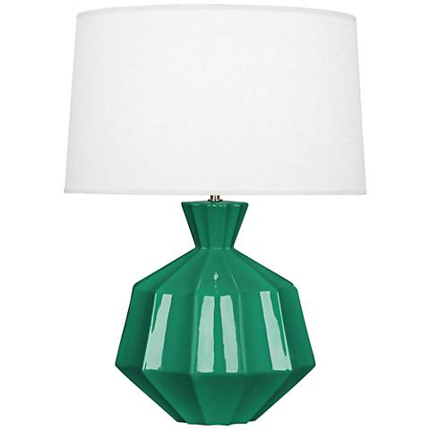 Robert Abbey Orion Emerald Green Ceramic Table Lamp