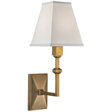 "Hudson Valley Tilden 13 1/2"" High Aged Brass Wall Sconce"