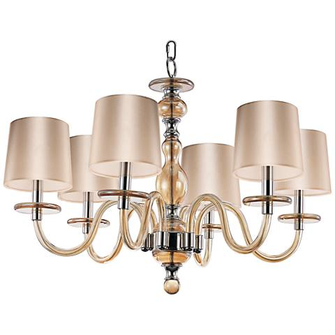 "Maxim Venezia 28"" Wide Polished Nickel Chandelier"