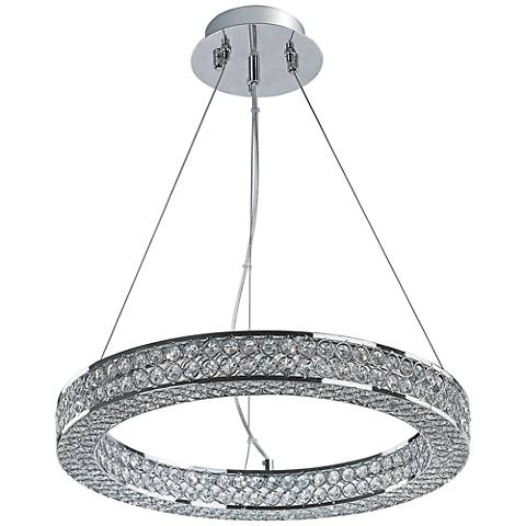 "Maxim Eternity 19 1/2"" Wide Polished Chrome LED Pendant Light"