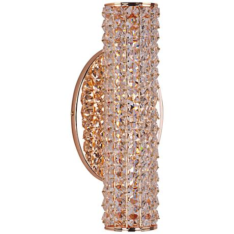 "Maxim Meteor 5 1/2"" High Rose Gold LED Wall Sconce"