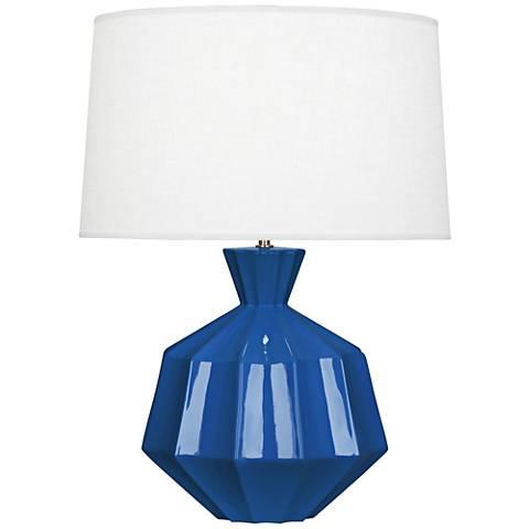 Robert Abbey Orion Marine Blue Ceramic Table Lamp