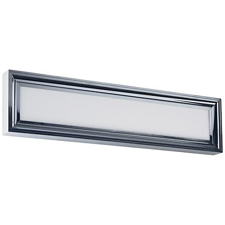 "Maxim Rembrant 24"" Wide Polished Nickel LED Bath Light"