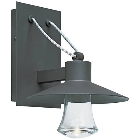 """Civic 10 1/2""""H Architectural Bronze LED Outdoor Wall Light"""