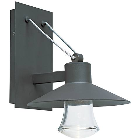 "Civic 12 1/2""H Architectural Bronze LED Outdoor Wall Light"