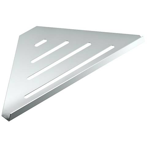 "Gatco Elegant Chrome 13 1/4"" Wide Corner Shelf"