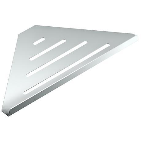 "Gatco Elegant Chrome 13 1/4"" Wide Corner Shelf"